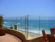 Mira Mesa Commercial Privacy Glass Railing
