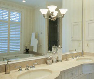 Bathroom Mirror Installation glass mirror installation - san diego ca | home, studio, gym