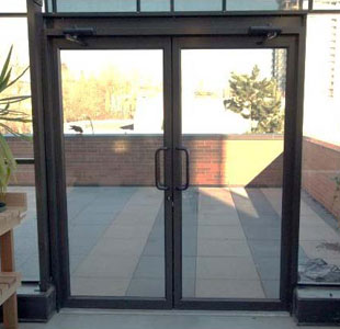 Commercial Clear Glass Gate