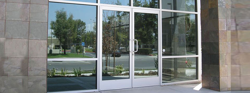 Aluminum Frame Motorized Glass Door