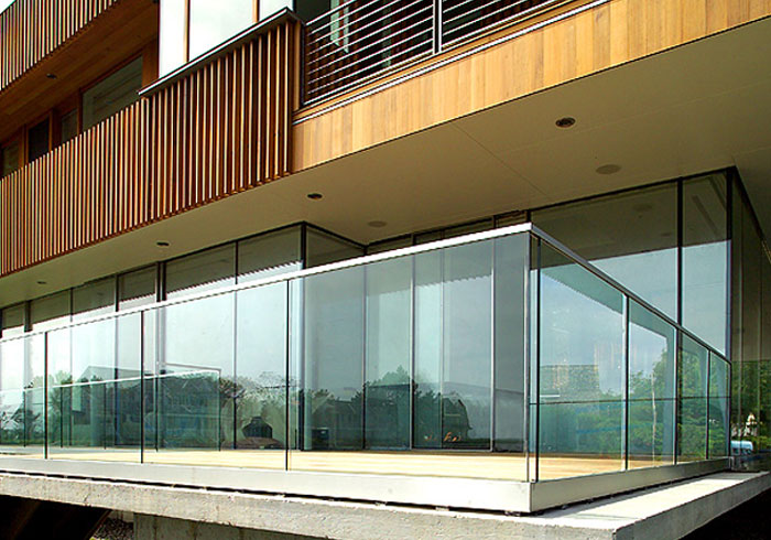 Commercial Balcony Glass Railings