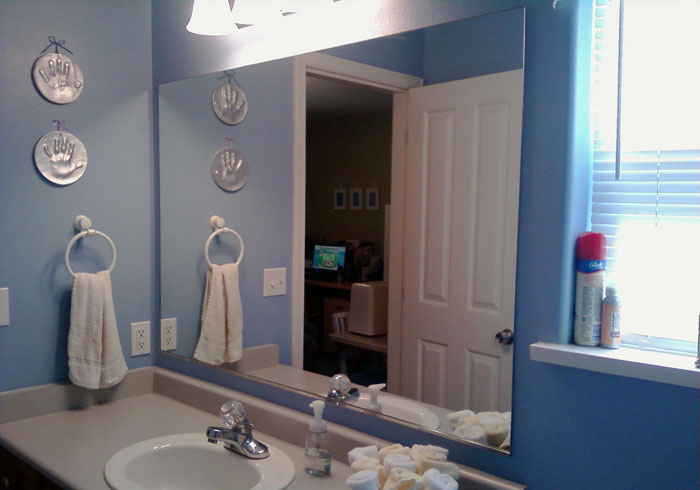 Bathroom Mirrors San Diego glass mirror installation - san diego ca | home, studio, gym