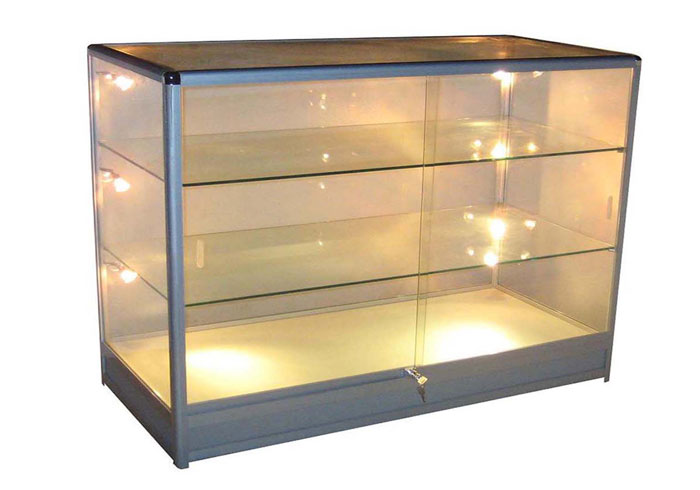 Aluminum Frame Glass Shelving
