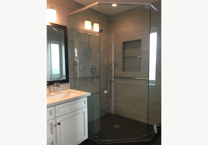 Frameless Shower Enclosure in La Jolla, CA