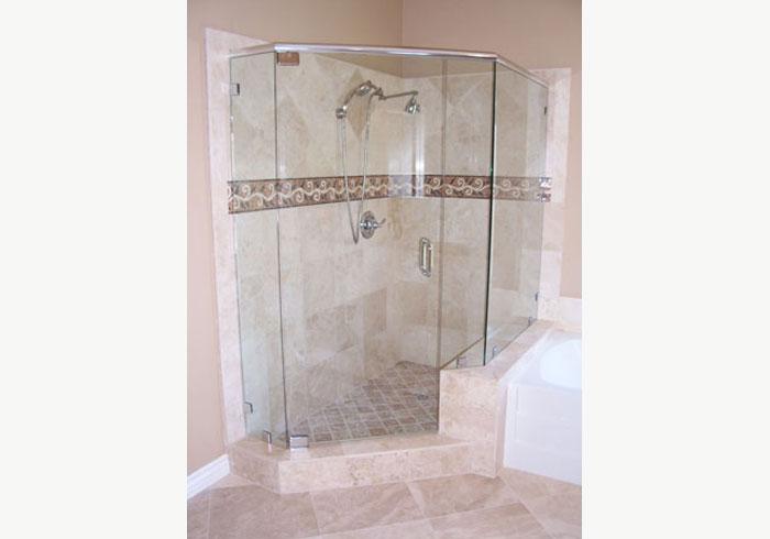 frameless shower door with brackets coronado small glass bathroom enclosure