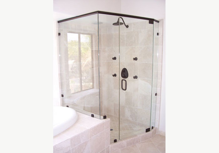 ... Framed Glass Shower Door