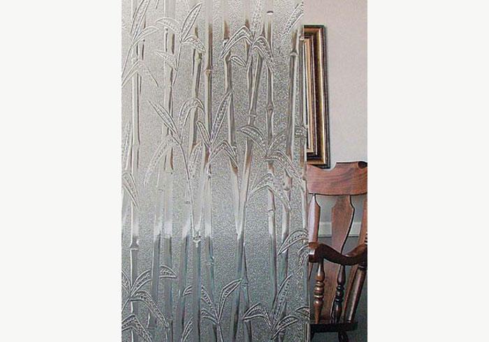 Bamboo design on glass