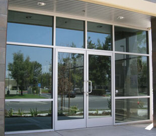 Business Glass Front Door