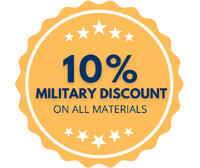 10% Military Discount On All Materials