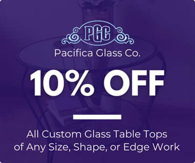 10% Off Glass Table Top